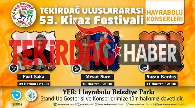 53.Kiraz Festivali Hayrabolu Olumsuz Hava Koşulları ve Konser Ertelenmesi