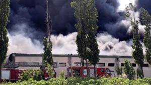 Tekirdağ-Ergene'de Yatak Fabrikasında Yangın