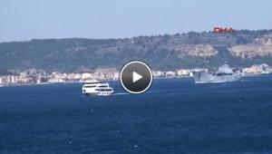 Çanakkale'den Rus Çıkarma Gemisi Geçti