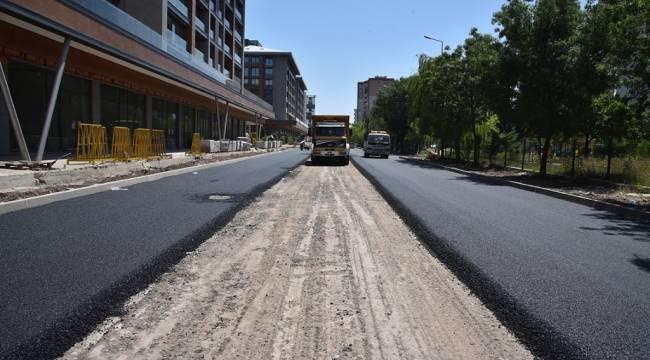 Çorlu Belediyesi Asfalt Çalışmaları Esentepe Mahallesi´nde Devam Ediyor