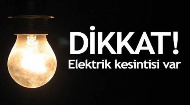 Dikkat! 20 Temmuz'da Elektrik Kesintisi Var
