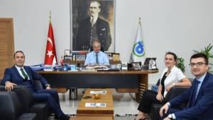 Halk Bankası Süleymanpaşa Şube Müdürü Mehmet Akif Dede'den Kadir Albayrak'a Ziyaret