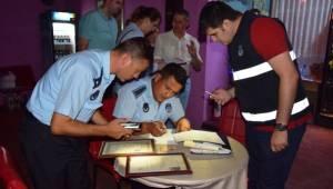 Süleymanpaşa Belediyesi Zabıta Ekipleri Kumbağ ve Barbaros'ta Eğlence Mekânlarını Denetledi