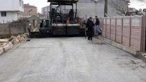 Çerkezköy Kızılpınar'da Sokaklar Asfaltlanıyor