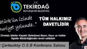 Sunay Akın Tekirdağ Kapaklı'ya Geliyor!