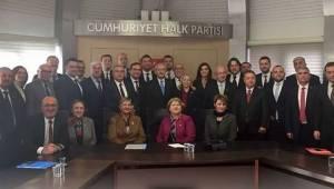 Tekirdağ CHP İl Örgütü ve CHP'li Başkanlar CHP Genel Merkezinde