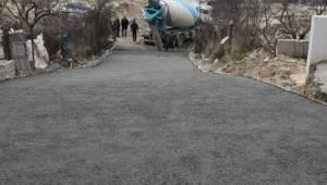 Çerkezköy Belediyesinden Demirli Beton Yol Hizmeti