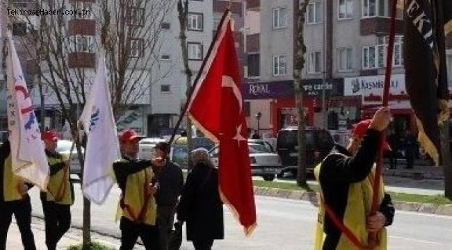 57'ci Alay Yürüyüş Komitesi Çerkezköy'den Yola Çıktı