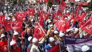 İşçiler 1 Mayıs İçin Çorlu'da Birleştiler