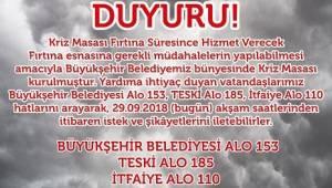 Kasırga Marmara'ya Doğru Yön Değiştirdi
