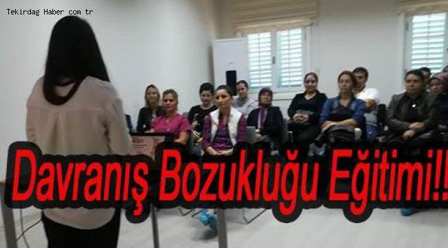 Süleymanpaşa'dan Çocuklarda Davranış Bozukluğu Eğitimi