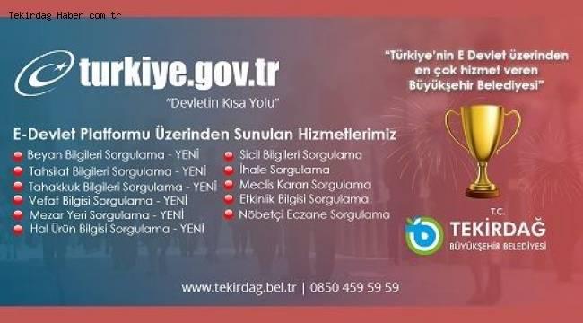 Tekirdağ Büyükşehir Belediyesi E-Devlet Şampiyonu   Son Dakika Tekirdağ Haber