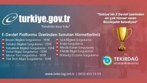 Tekirdağ Büyükşehir Belediyesi E-Devlet Şampiyonu | Son Dakika Tekirdağ Haber