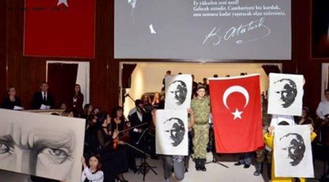 Tekirdağ Ebedi Önder Mustafa Kemal Atatürk'ü Anıldı   Son Dakika Tekirdağ Haber