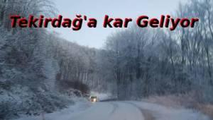 Tekirdağ'a Kar Geliyor | Son Dakika Tekirdağ Haber