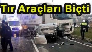 Tır Kırmızı Işıktaki Araçlarla Çarpıştı 10 Yaralı | Son Dakika Tekirdağ Haber