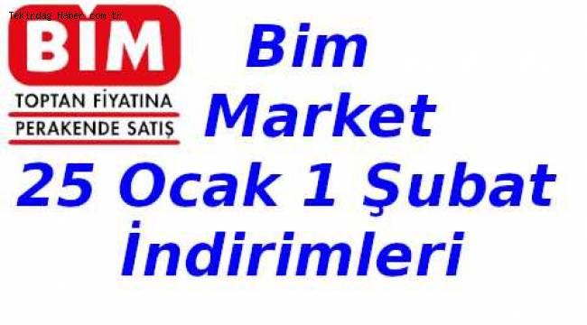 BİM Market İndirimleri 25 Ocak 2019 & 1 Şubat 2019 Aktüel Kataloğu Tam Listesi - Tekirdağ Son Dakika Haberleri