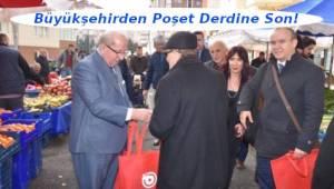 CHP Adayı Albayrak Pazarda Bez Çanta Dağıttı