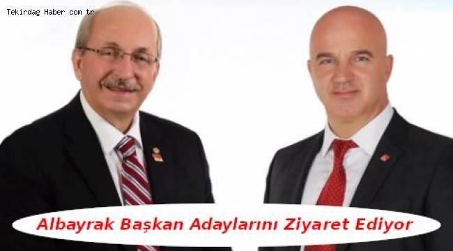 Kadir Albayrak'tan CHP Belediye Başkan Adaylarına Tebrik Ziyareti   Son Dakika Tekirdağ Haber