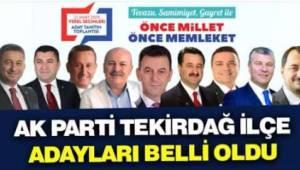 Tekirdağ Ak Parti Belediye Başkan Adayları İsimleri Açıklandı - Tekirdağ Haber