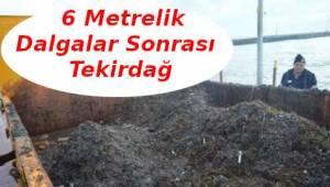 Tekirdağ'da 6 Metrelik Dalganın Sonucu Sabah Görüldü! | Son Dakika Tekirdağ Haber