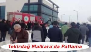 Tekirdağ'da Malkara İlçesinde Patlama | Son Dakika Tekirdağ Haber