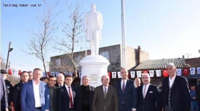 Atatürk Anıtı'nın Açılışı Yapıldı - Tekirdağ Haber