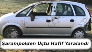 Kontrolden Çıkan Otomobil Şarampolden Uçtu 1 Kişi Yaralandı | TEKİRDAĞ HABER