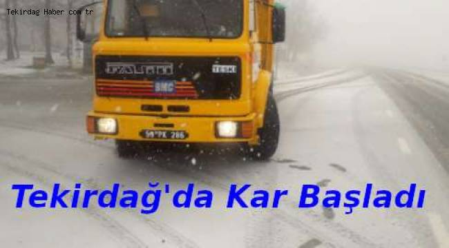 Tekirdağ'da Yağmur Durdu Kar Yağmaya Başladı | TEKİRDAĞ HABER