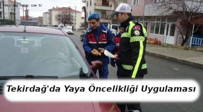 Tekirdağ'da Yaya Öncelikli Trafik Uygulaması Yapıldı - Tekirdağ Haber