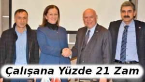 Tekirdağ Süleymanpaşa'da Kadrolu Çalışanlara Yüzde 21 Zam Sözleşmesi - Tekirdağ Haberler