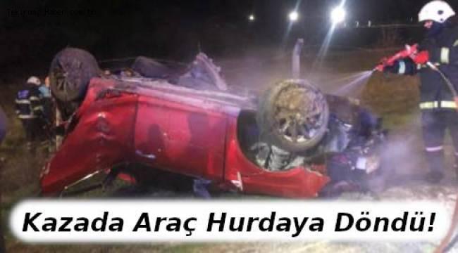 Trafik Kazasında Araç Hurdaya Döndü 3 Kişi Yaralandı | TEKİRDAĞ HABER