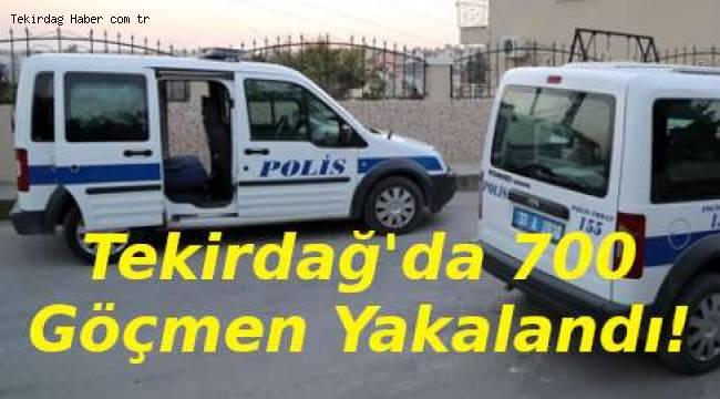 Bir Gecede 700 Kaçak Göçmen Yakalandı! Tekirdağ Gündemi Kaçak Göçmenler!