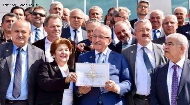 Tekirdağ Büyükşehir Belediye Başkanı Mazbatasını Aldı!