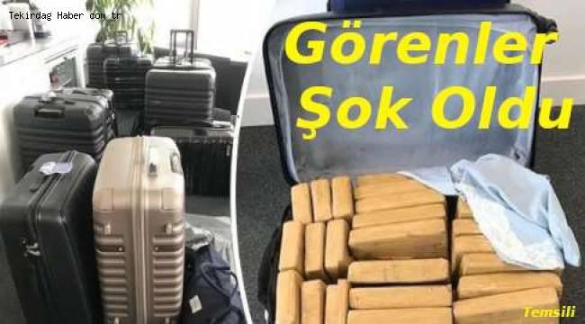 Tekirdağ'da Bavullar Dolusu 131 Kilo Uyuşturucu Ele Geçirildi! Görenler Şok Oldu