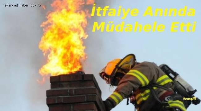 Tekirdağ'da Korkutan Yangın! Yangın Mahalleyi Sokağa Döktü