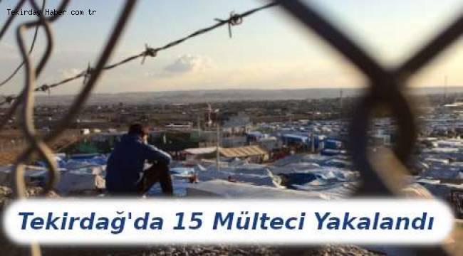 Tekirdağ Polisi 15 Mülteci Yakalandı! Mültecilere Dair Yasal İşlemler Sürüyor
