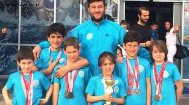 Tekirdağ Süleymanpaşalı Minik Yüzücüler 14 Madalya Kazandılar