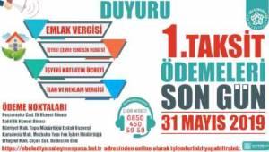 Dikkat Emlak ve Çevre Vergisi 1. Taksit Ödemesinin Son Günü 31 Mayıs!