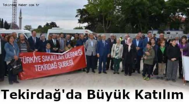 Tekirdağ'da Engelliler Haftası Etkinliğine Büyük Katılım