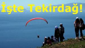 Tekirdağ Süleymanpaşa'da Yamaç Paraşütü Milli Parklarla Bir Arada