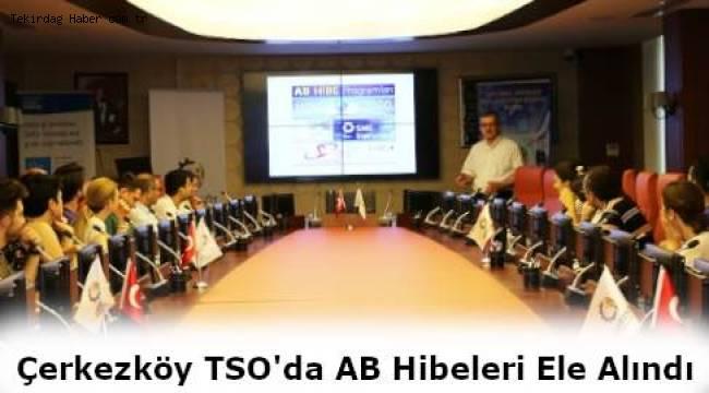 Çerkezköy Ticaret ve Sanayi Odası'nda (ÇTSO) Avrupa Birliği (AB) Proje Eğitimi Verildi