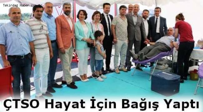 ÇTSO Başkanı Süleyman Kozuva'dan Kan Bağışına Çağrı
