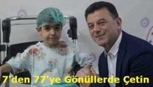 Örnek Başkan Çetin Sünnet Çocuklarını Yalnız Bırakmadı