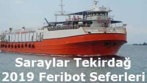 Saraylar Tekirdağ Feribot Seferleri 2019 (Marmara RoRo)