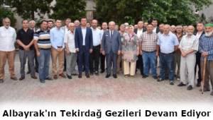 Tekirdağ Büyükşehir Belediye Başkanı Kadir Albayrak İlçe Gezilerine Devam Ediyor