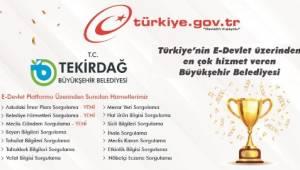 Tekirdağ Büyükşehir Belediyesi 1. Olmaya Devam Ediyor!