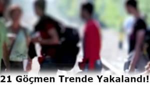 Tekirdağ'da 21 Kişilik Göçmen Kafilesi Yakalandı