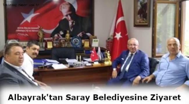 Tekirdağ Büyükşehir Belediye Başkanı Kadir Albayrak'tan Saray'a Sürpriz Ziyaret