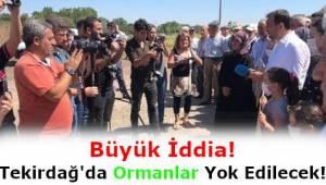 Tekirdağ Büyükşehir Belediyesi Ormanları Çöp Yapacak İddiası